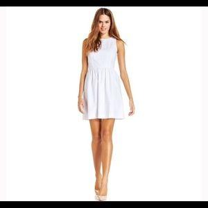 Kensie White Eyelet Dress Size Medium